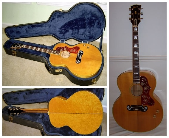 RI Original 1967 Gibson J-200 Acoustic - Solid Spruce Top with Solid Flame Maple Back & Sides - Inc. Original Period Hard Case
