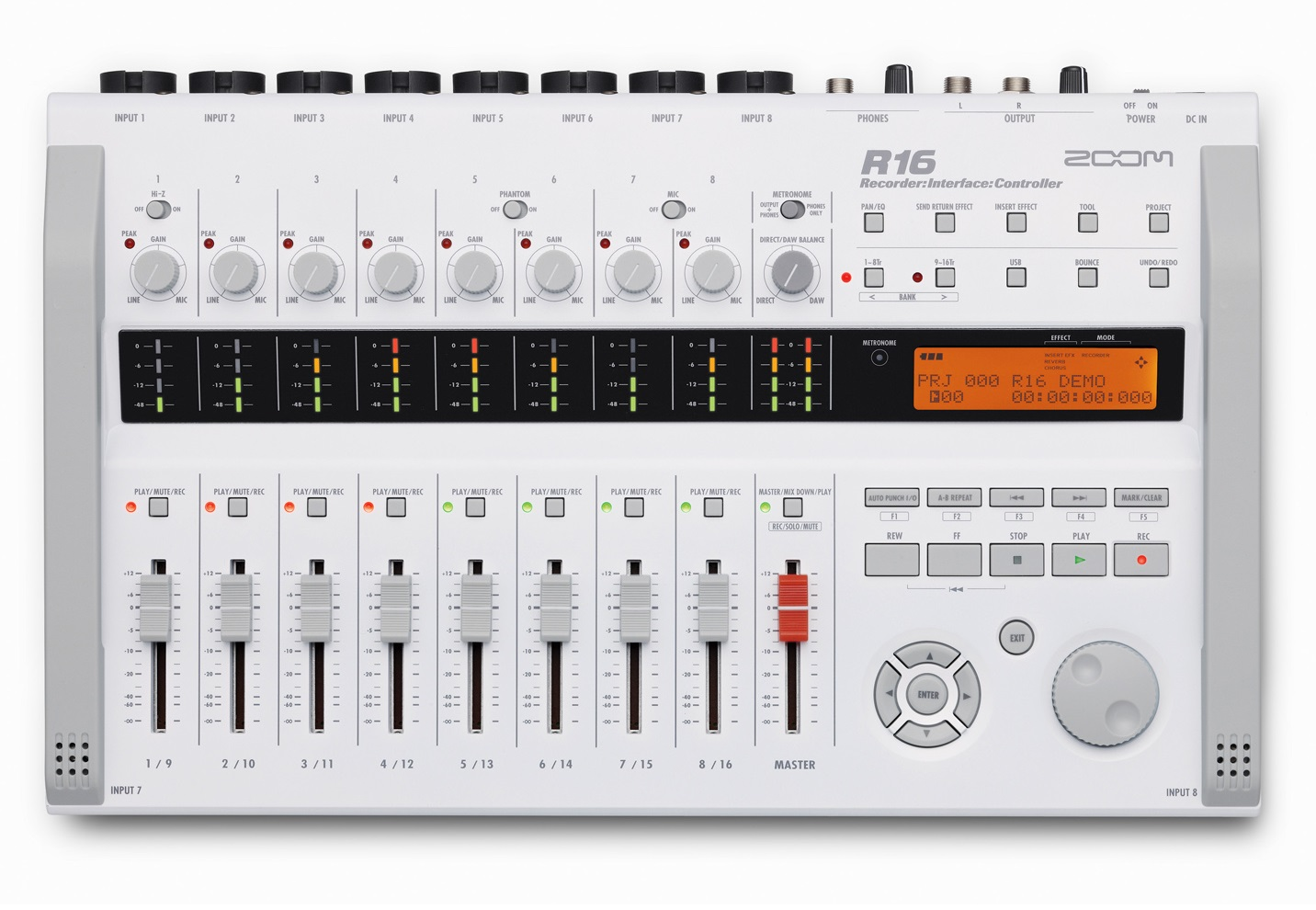1MMM000 Zoom R16 16-Track Digital Recorder - All in one Recorder, Interface and Controller in a Mobile Production Studio