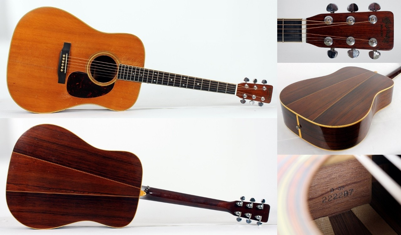 2GHI018 Original 1967 Martin D-35 Acoustic - Solid Spruce Top with Brazilian Rosewood Back & Sides - Inc. Original Period Hard Case