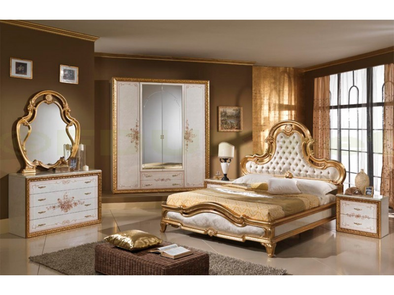 gold italian bedroom set with 4 or 6 door wardrobe products montrose furniture