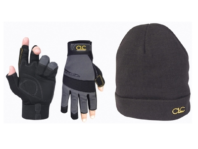 S002 Kunys KUNPK4015 CLC PK4015 Fingerless Gloves + Beanie Hat