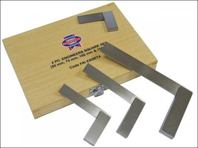 423 Faithfull SS/A/2-3-4-6 Engineers Squares Set 4pce (50. 75. 100. 150mm)
