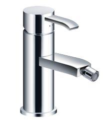 29749 TC Bathrooms TCKJSI05C Silva Bidet Mono Tap with Pop-up Waste