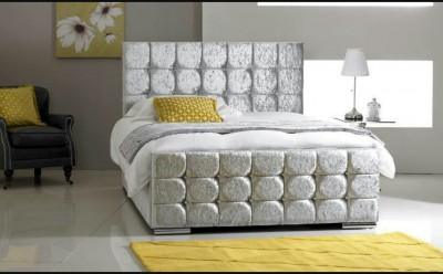 Merino Cream Valour Double Bed Frame Beds Mattresses Worldwide - Bedroom furniture in liverpool