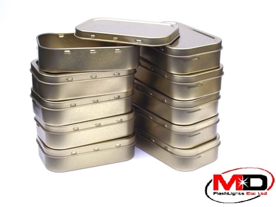 10 x 2oz Gold Tobacco//Survival Tin With Rubber Seal