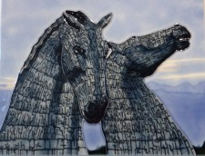 The Kelpies decorative wall tile from Scottish gift Shop