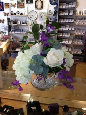 Artificial flowers, beautiful flower arrangement from Scottish gift shop Misty Glen