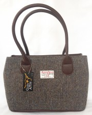 Harris Tweed handbag LB1003 col 7 Tweed 100% wool from Outer Hebrides Scotland