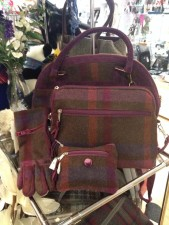 Earth Squared handbags in tartan and tweed in Scottish Gift Shop Misty Glen