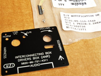 Interconnecting Box Drivers Box (ANR) MOD Kit