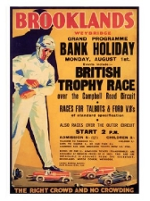 Brooklands Bank Holiday Races Print