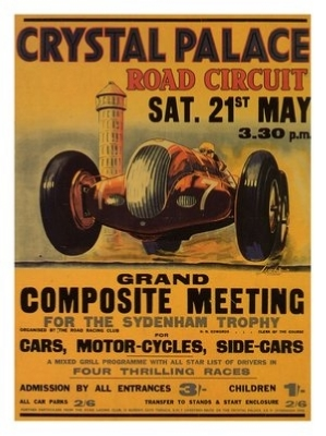 VIN032 Crystal Palace Road Races Print