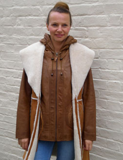 Ladies 3/4 Sheepskin Gilet