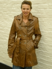 Ladies 3/4 Leather Coat