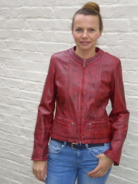 09 LADIES CHANEL STYLE LEATHER JACKET