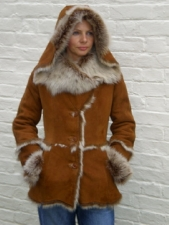 Toskana Sheepskin Jacket With Hood