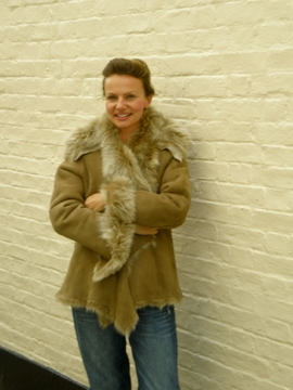 003 LADIES TOSCANA SHEEPSKIN JACKET(waterfall style)