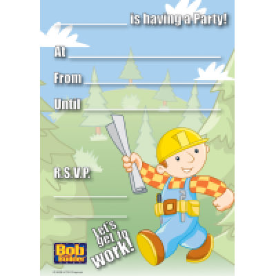 992326 Bob The Builder Invite Pad
