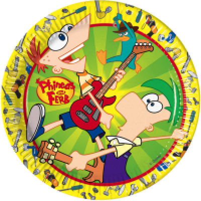 7083 phineas and ferb plates x 8pk