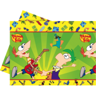 7087 phineas and ferb table cover x1