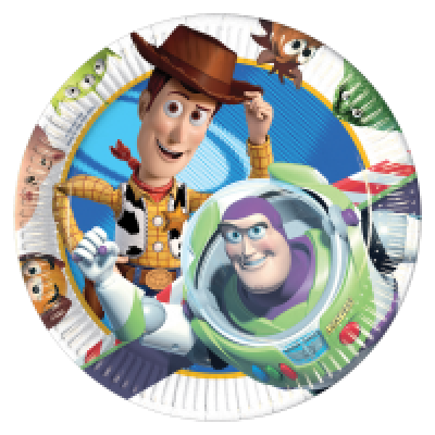 4316 Toy Story 3 plates 23cm x 8pk
