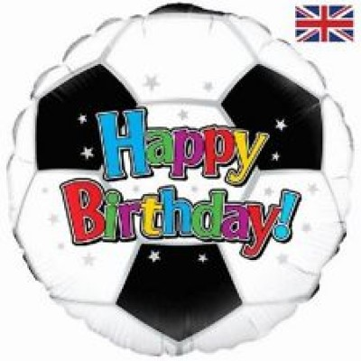 86280p soccer fotball birthday foil balloon 18