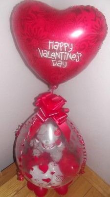 SSUK432 VALENTINES DAY BALLOON WITH TEDDY / 18