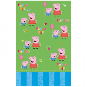 190977GE PEPPA PIG TABLE COVER 138CM X 183CM X1