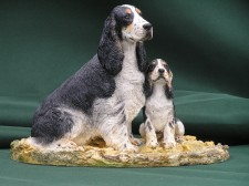 Cocker and pup �90.00