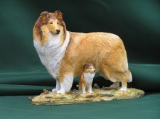 Standing Collie and  pup�100.00