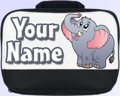 Personalized Cartoon Elephant Lunch Bag
