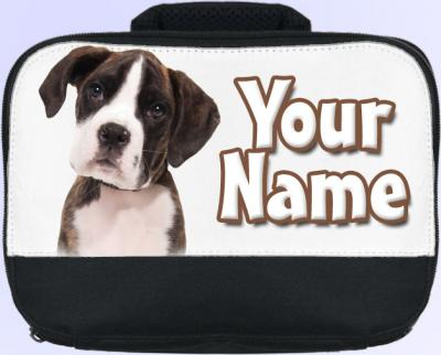 Personalized Boxer Puppy Lunch Bag