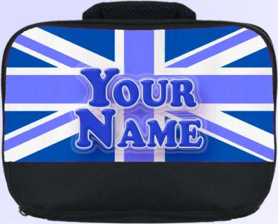 Personalized Blue Union Jack Lunch Bag