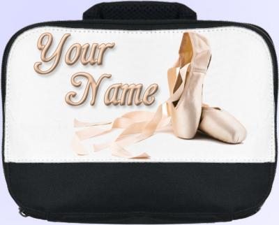 Personalized Ballet Shoes Lunch Bag