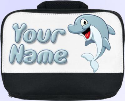 Personalized Cartoon Dolphin Lunch Bag