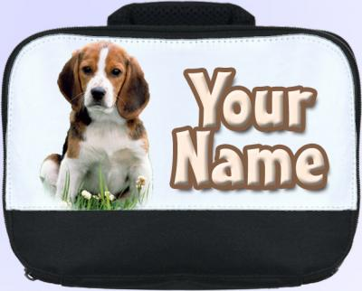 Personalized Beagle Puppy Lunch Bag