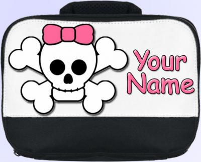 Personalized Cute Skull Lunch Bag