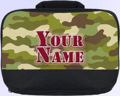Personalized Camouflage Lunch Bag