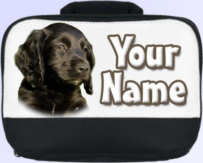 Personalized Black Cocker Spaniel Lunch Bag
