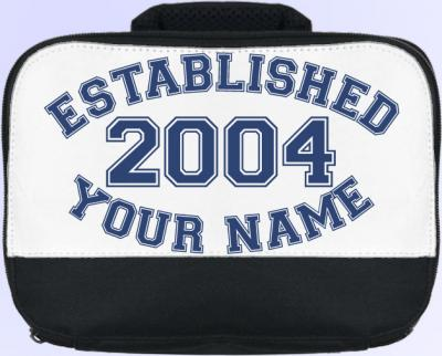 Personalized Established�. (Blue) Lunch Bag