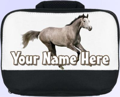 Personalized Dapple Grey Horse / Pony Lunch Bag