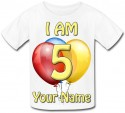 Personalised Kids Balloon T-Shirt