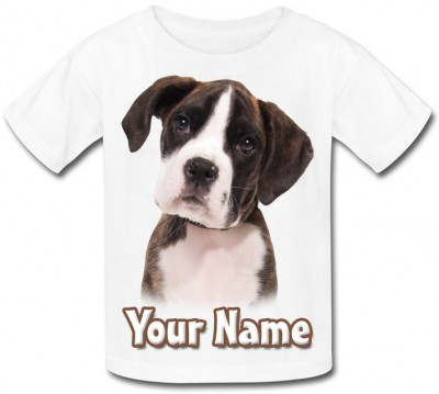 Personalised Boxer Puppy T-Shirt