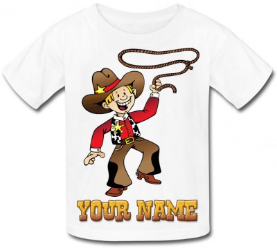 Personalised Cowboy T-Shirt