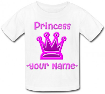 Personalised Princess (Crown) T-Shirt