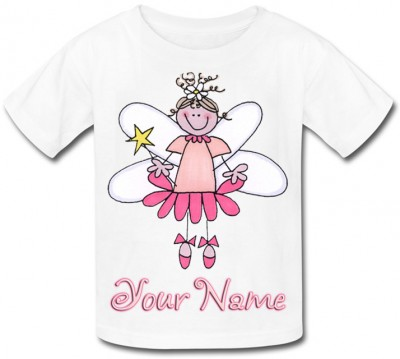 Personalised Pink Fairy T-Shirt