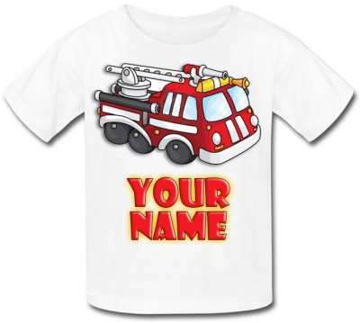 Personalised Fire Engine T-Shirt