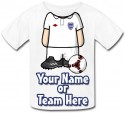 Personalised Kids Footballer Body T-Shirt