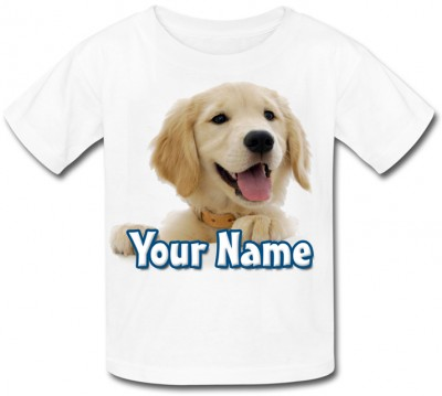 Personalised Golden Retriever T-Shirt