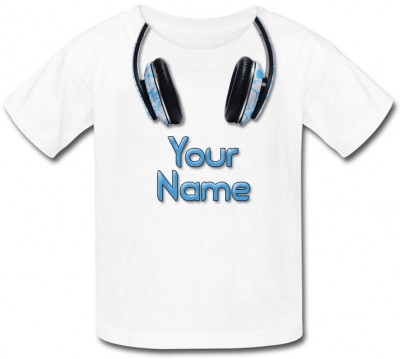 Personalised Headphones T-Shirt